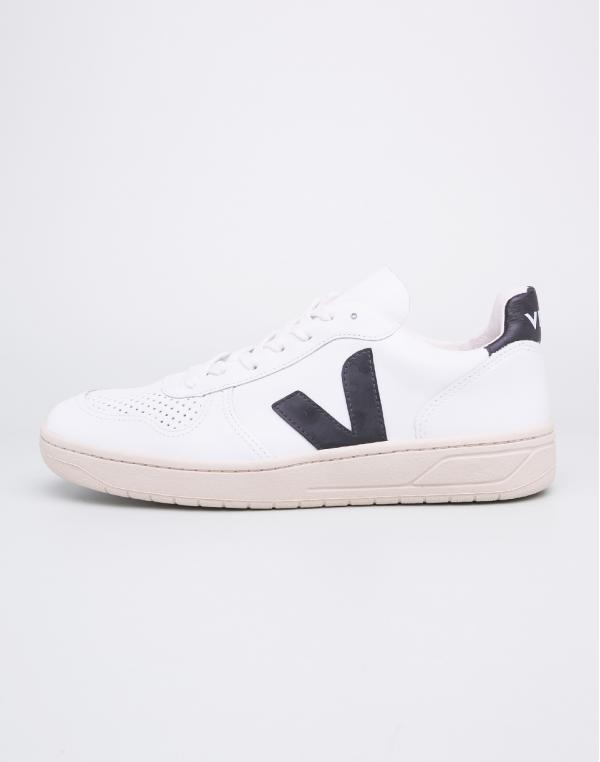 Veja V-10 Leather Extra White Black 42