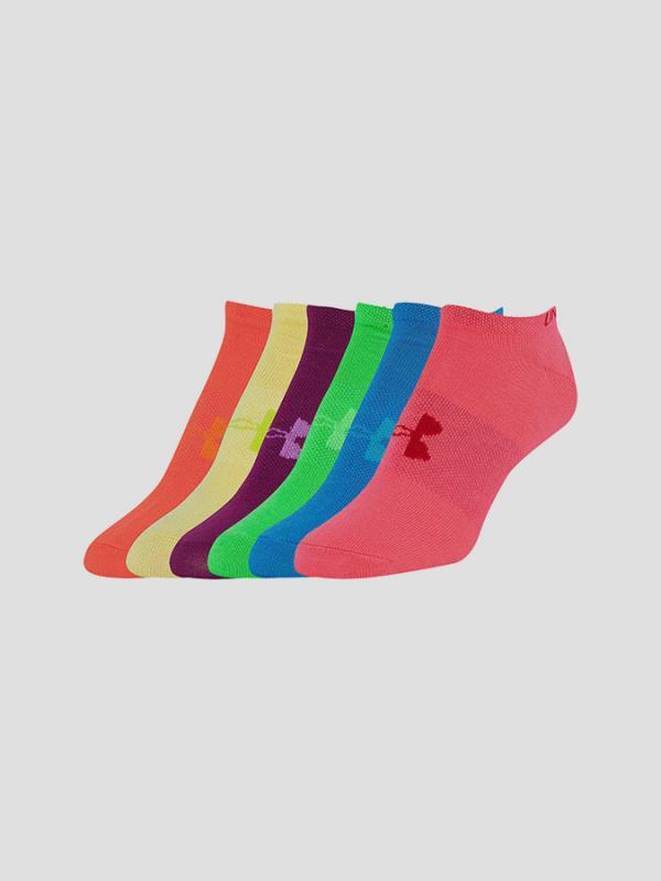 Ponožky Under Armour Girls Solid 6 Pks No Show Barevná