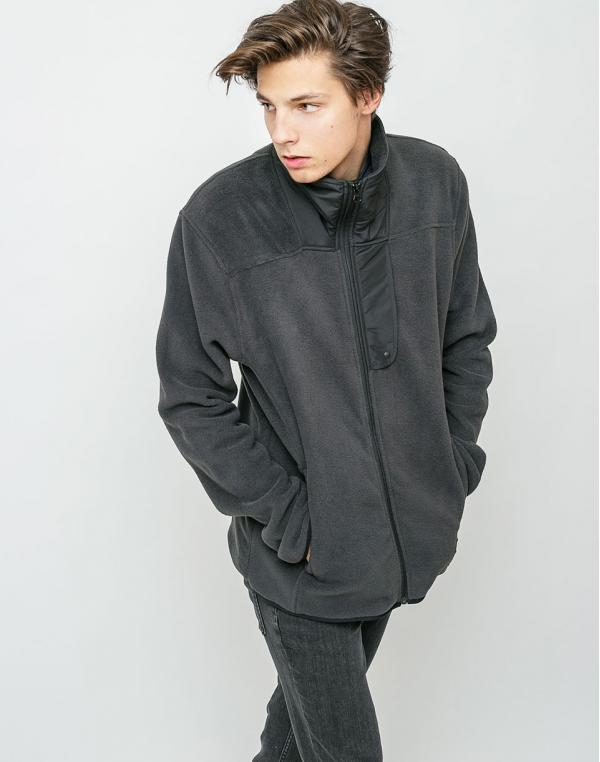 Herschel Supply Fleece Zip Up Black M