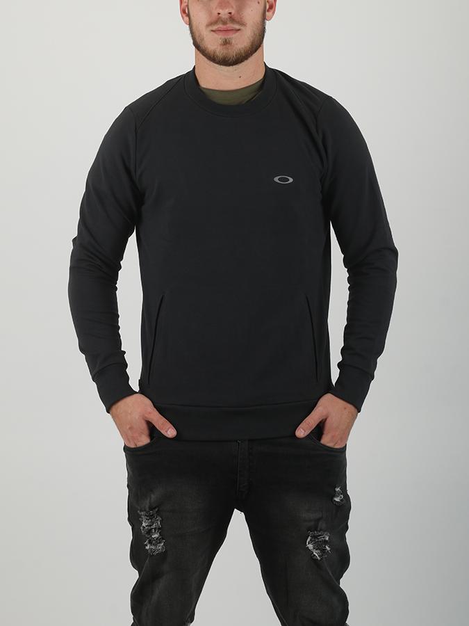 Mikina Oakley Link Crew Fleece Blackout Černá  91e0d8813c
