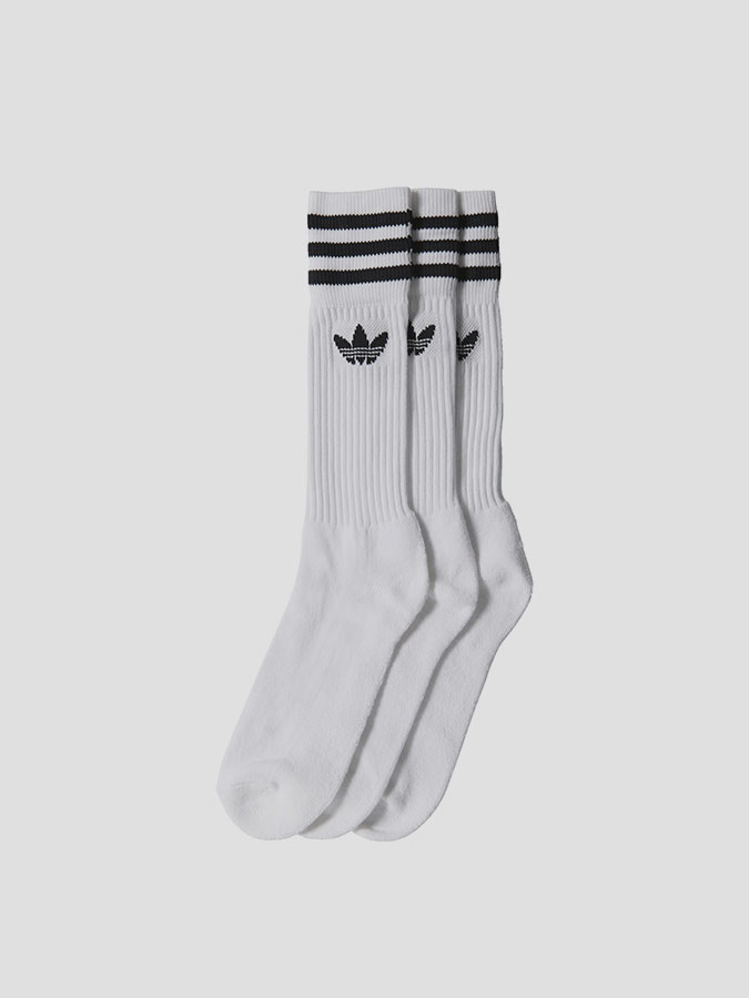 Ponožky adidas Originals SOLID CREW SOCK Bílá  3b40aa6662