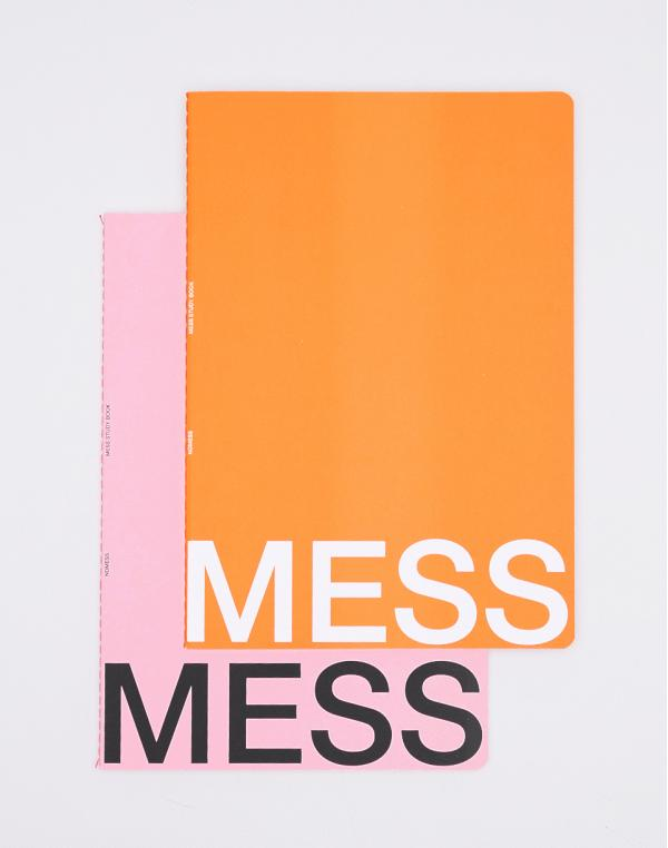 Nomess Mess Study Book L Orange/Pink