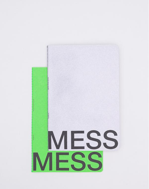 Nomess Mess Study Book M Neon Green