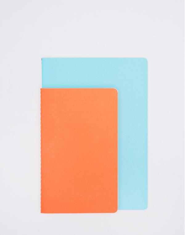 Nomess Studybooks M/L Orange/Light Blue