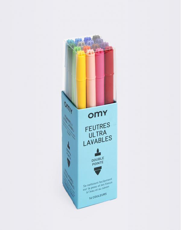 OMY 16 Ultra Washable Felt Pens