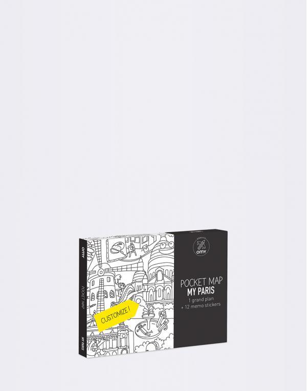 OMY Coloring Pocket Map - My Paris