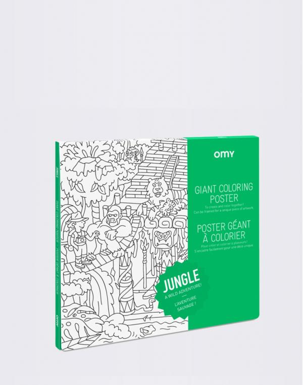 OMY Giant Coloring Poster - Jungle