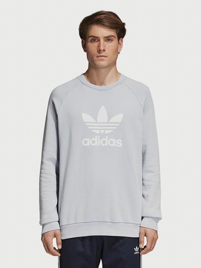Mikina adidas Originals Trefoil Crew Šedá  3477b863d4e