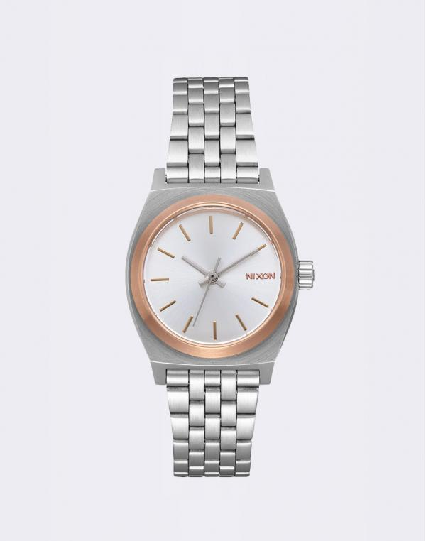 Nixon Small Time Teller Silver/Gold/Rose Gold