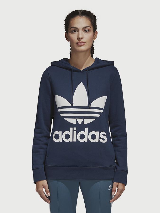 379b11257d6 Mikina adidas Originals Trefoil Hoodie Modrá