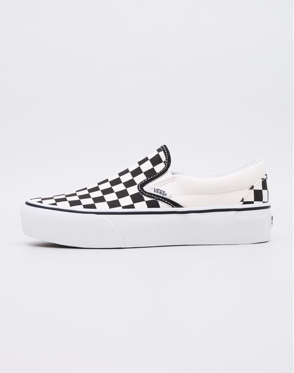 Vans Classic Slip-On Platform Black & White Checkerboard/ White 38