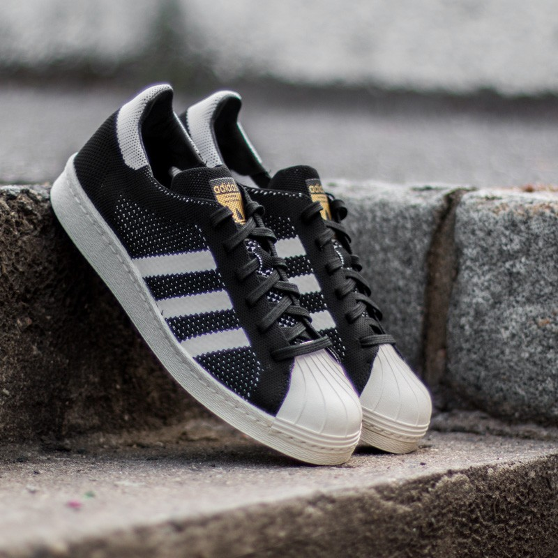 reputable site 8780e 20f94 adidas Superstar 80s Primeknit Core Black/ Ftw White/ Gold Metal
