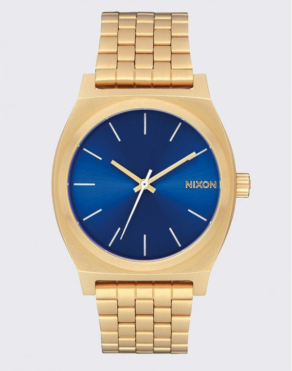 Nixon Time Teller All Gold / Blue Sunray