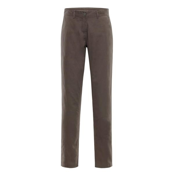 ALPINE PRO CHINA ŽLUTÁ / HNĚDÁ Dámské Kalhoty 34