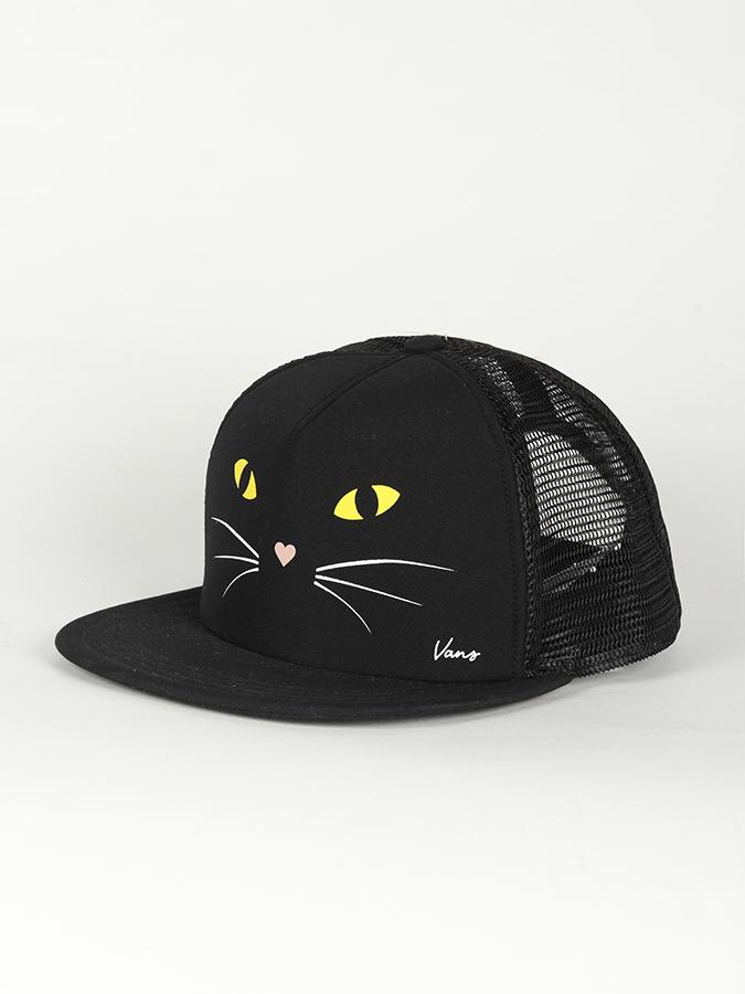 46090178885 Kšiltovka Vans Wm Lawn Party Trucke Black Cat Černá