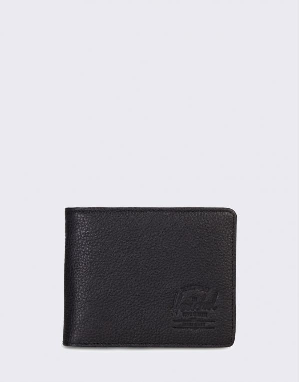 Herschel Supply Hank Leather RFID Black Pebbled Leather