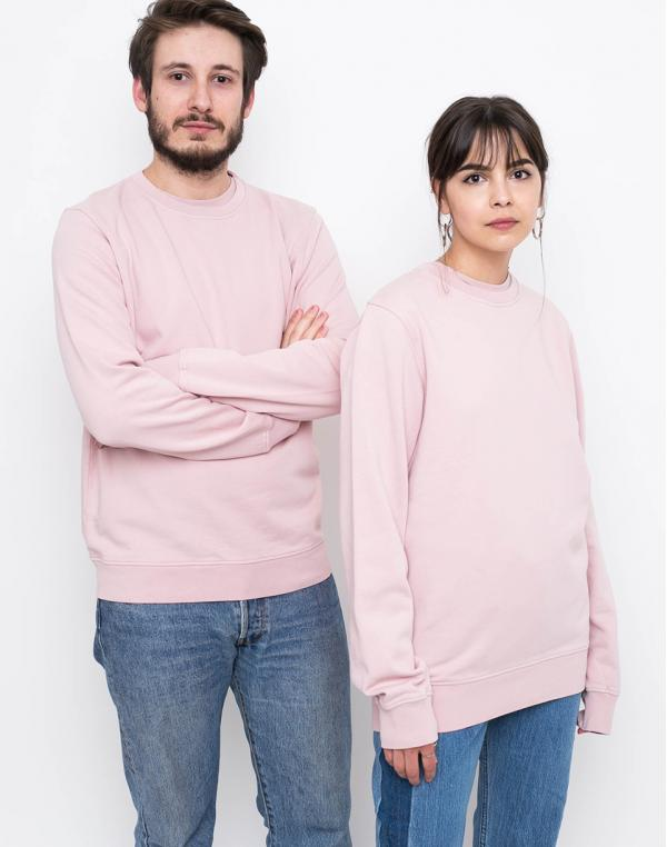 Colorful Standard Classic Organic Crew Faded Pink M
