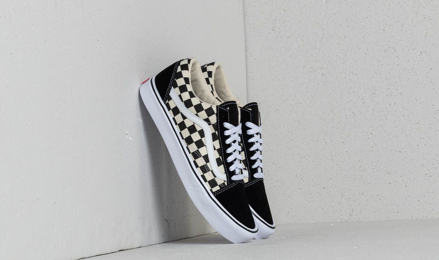buty vans old skool lite checkerboardblackwhite