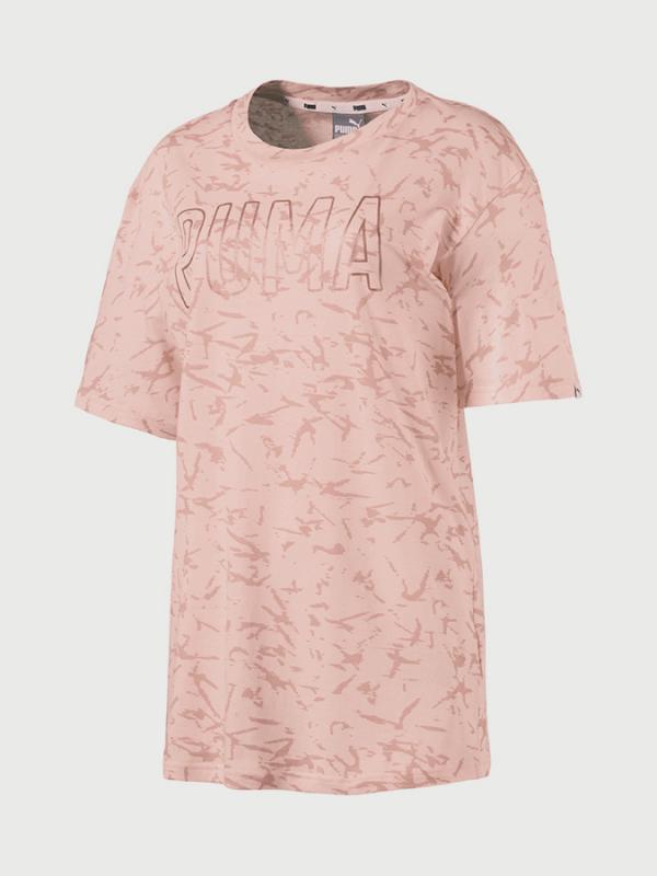 Tričko Puma FUSION Elongated AOP Tee Růžová 7b509e7b2ce