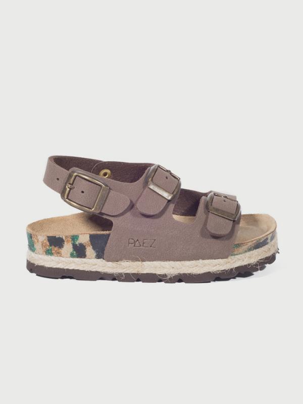 Sandály Paez Bio Congo - Nobuck Brown Hnědá