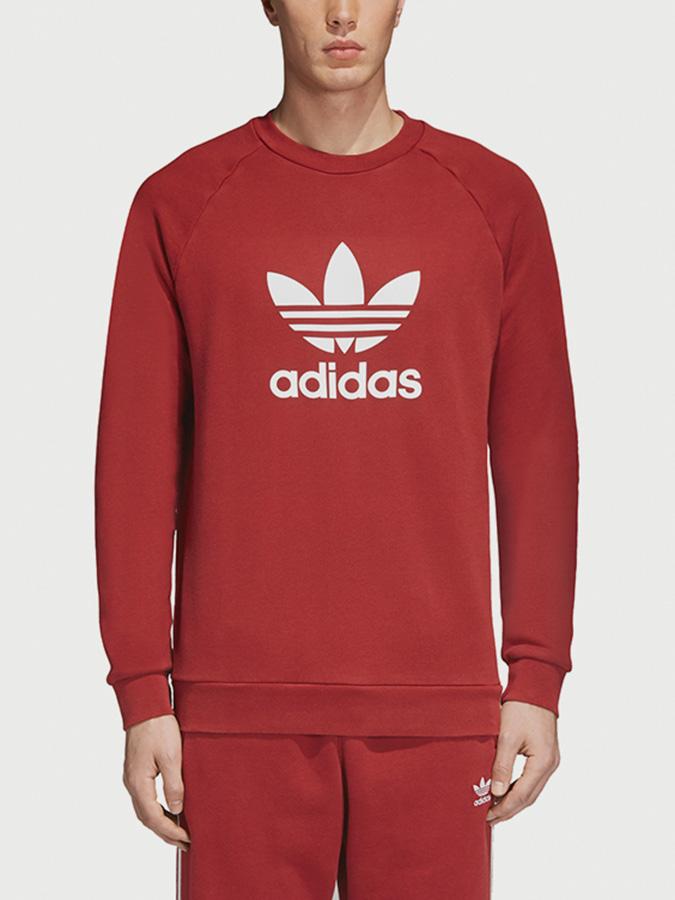 Mikina adidas Originals Trefoil Crew Červená  3cfae9f3c54