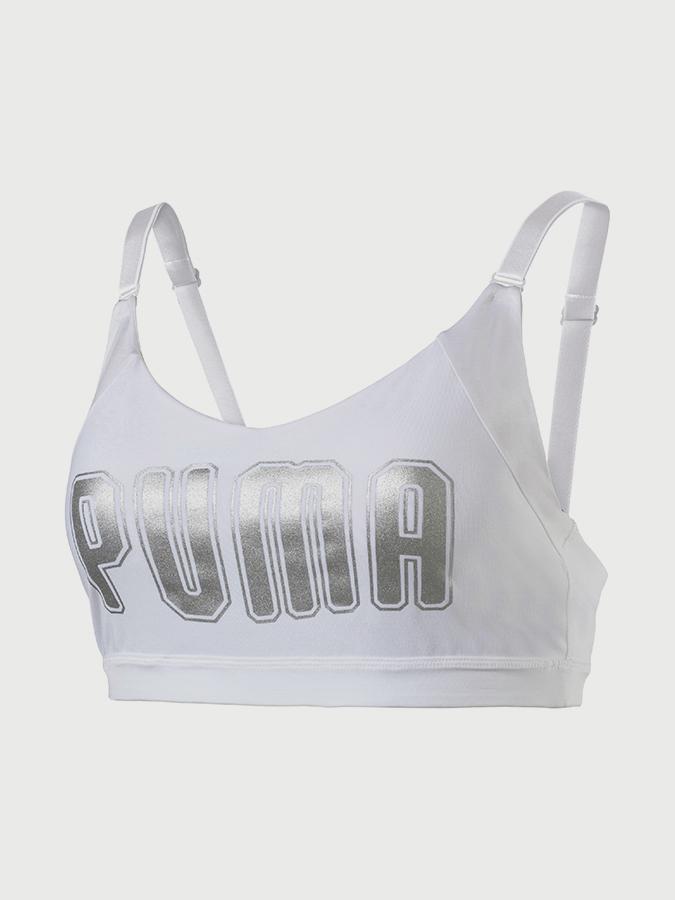 Podprsenka Puma En Pointe Logo Bra - M Bílá  40eb4a99f2