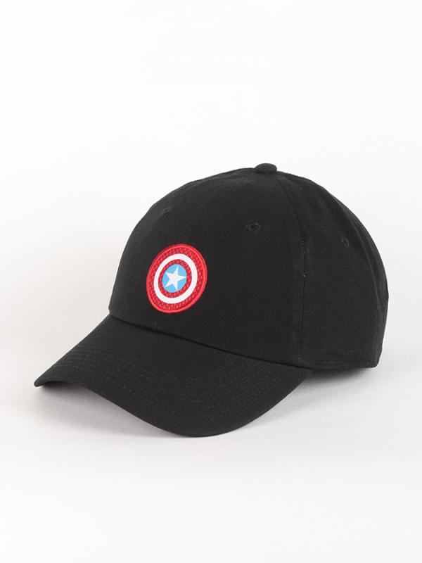 Kšiltovka Vans WM (Marvel) Captain America Shield Courtside Hat Black Černá