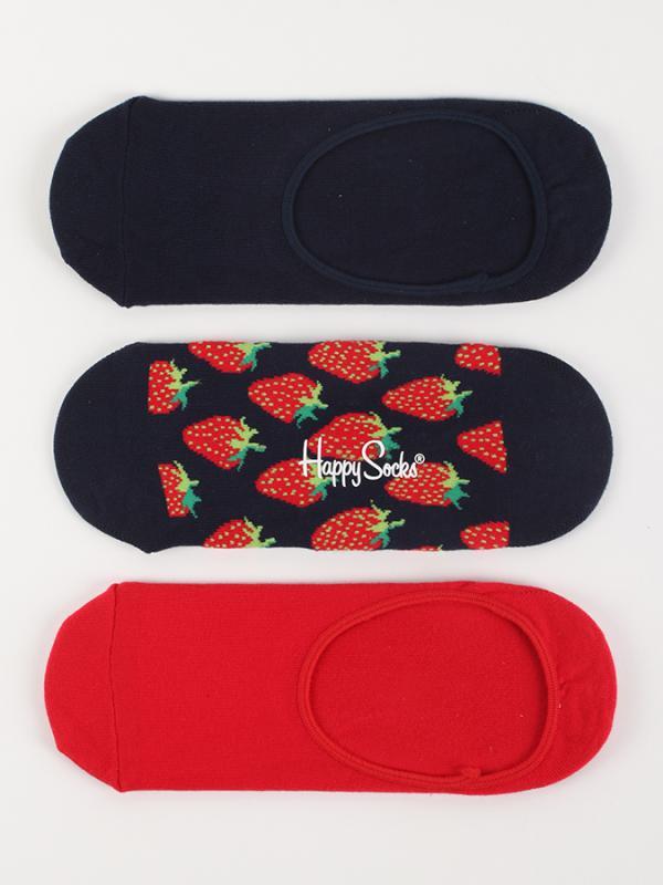 Ponožky Happy Socks 3-Pack Palm Strawberry Liners Barevná