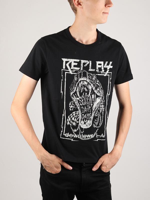 Tričko Replay M3370 T-Shirt Černá