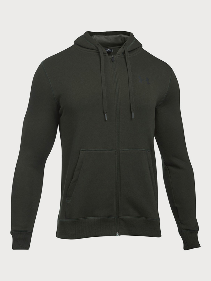 Mikina Under Armour Rival Fitted Full Zip Černá  c2d76756189