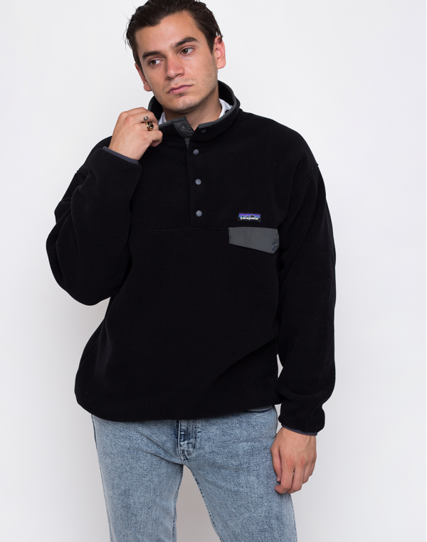 Patagonia Synchilla Snap-T Pullover Black w/Forge Grey L