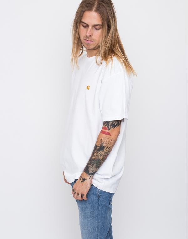 Carhartt WIP Chase White / Gold S