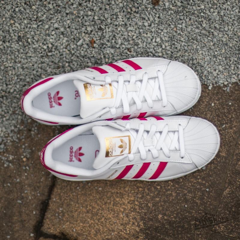 huge selection of 16d6f 0981c adidas Superstar Foundation J Ftw White/ Bo Pink/ Ftw White