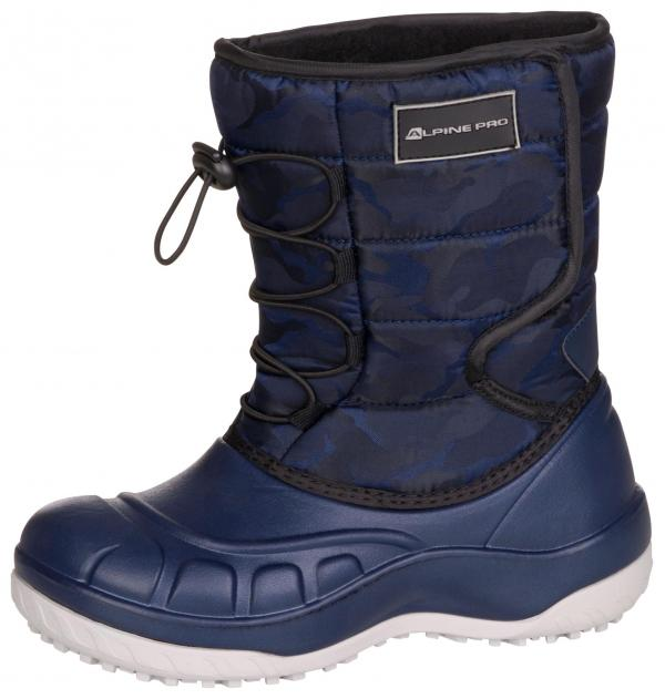ALPINE PRO AMARO MODRÁ / TYRKYSOVĚ MODRÁ Dětská zimní obuv 25