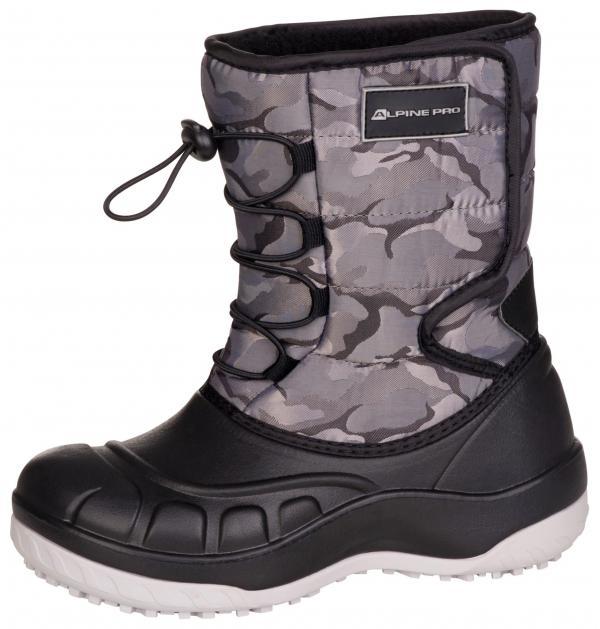 ALPINE PRO AMARO NEUTRÁLNÍ / ZEMITÁ Dětská zimní obuv 24
