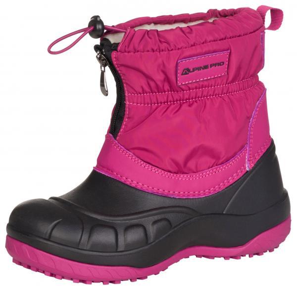 ALPINE PRO SAVIO RŮŽOVÁ / FIALOVÁ Dětská zimní obuv 24