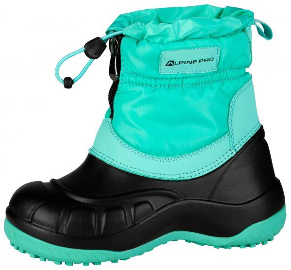 ALPINE PRO SAVIO ZELENÁ / TYRKYSOVĚ ZELENÁ Dětská zimní obuv 28