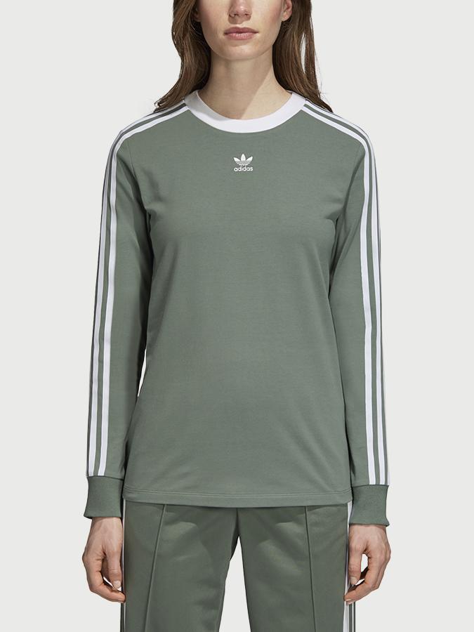 Tričko adidas Originals 3 Stripes Ls Zelená  72c5d2fb4c