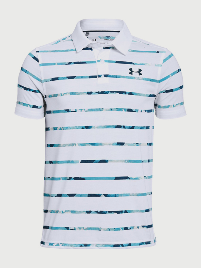 3dfa9d43c725 Tričko Under Armour Threadborne Polo Bílá