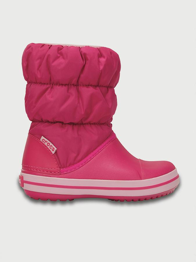 28ecbd120d5 Boty Crocs Winter Puff Boot Kids - Candy Růžová