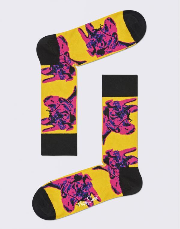 Happy Socks Andy Warhol Cow AWCOW01-3000 36-40