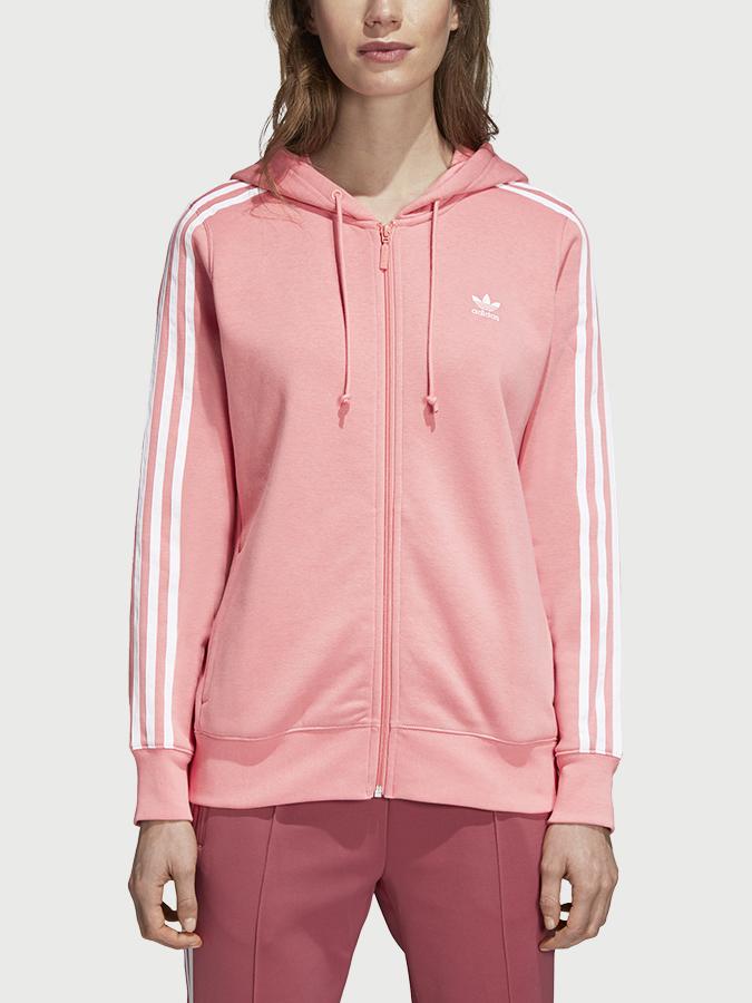 Mikina adidas Originals 3Str Zip Hoodie Růžová  44946f155ed