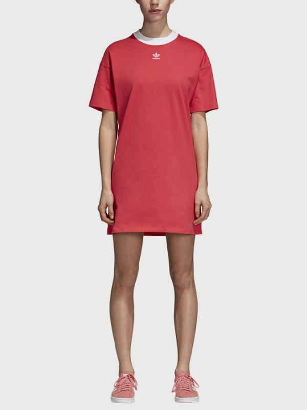 9ee01a382eb2 Šaty adidas Originals Trefoil Dress Červená