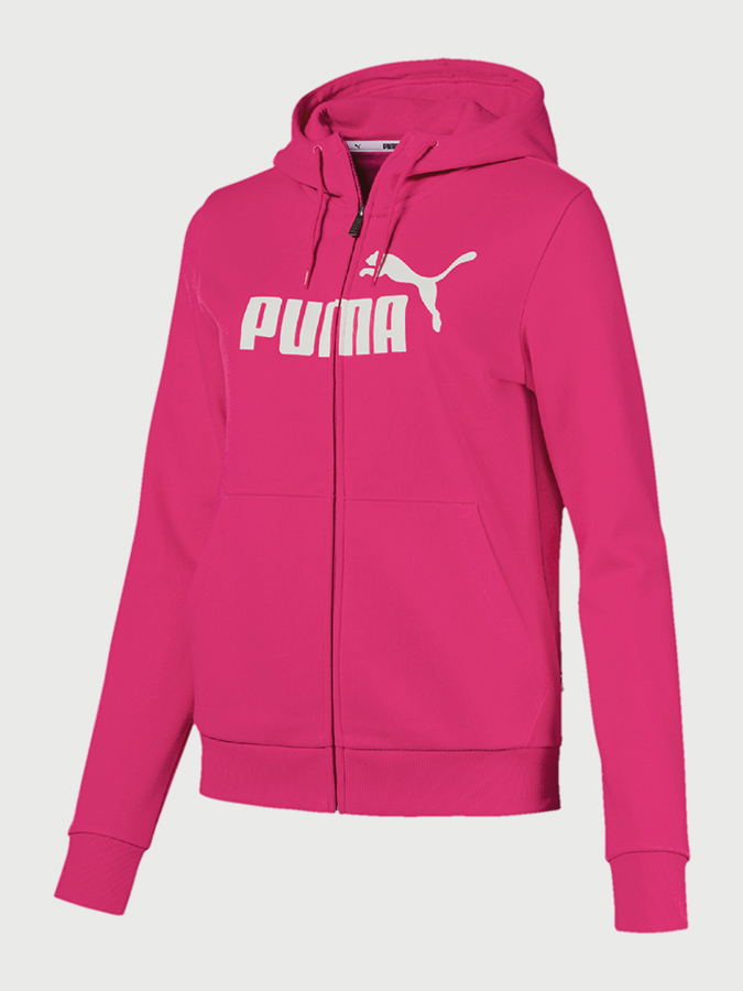 Mikina Puma Essentials Fleece Hooded Jkt Růžová  1ff5644b165
