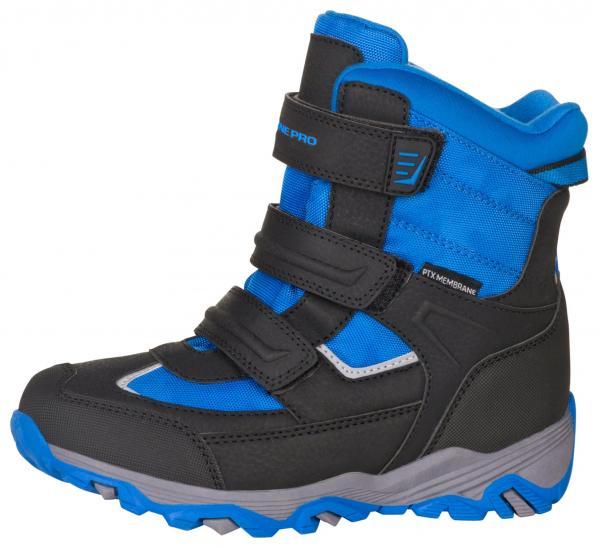 ALPINE PRO ACACIO MODRÁ / TYRKYSOVĚ MODRÁ Dětská zimní obuv 24
