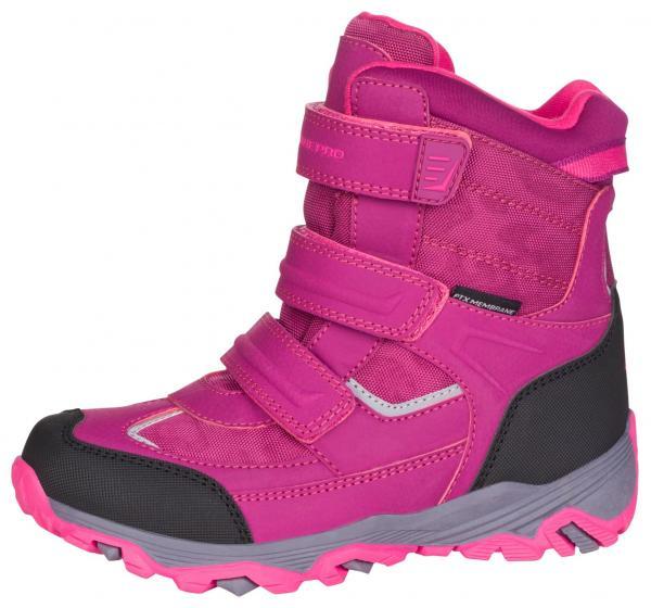 ALPINE PRO ACACIO RŮŽOVÁ / FIALOVÁ Dětská zimní obuv 24