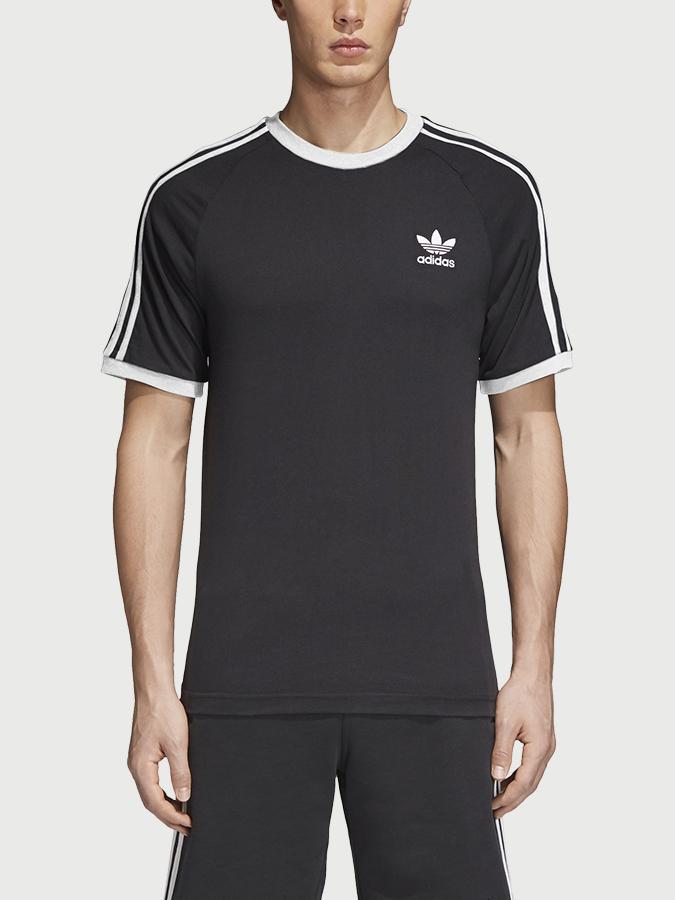 Tričko adidas Originals 3-Stripes Tee Černá  be5594b3d57