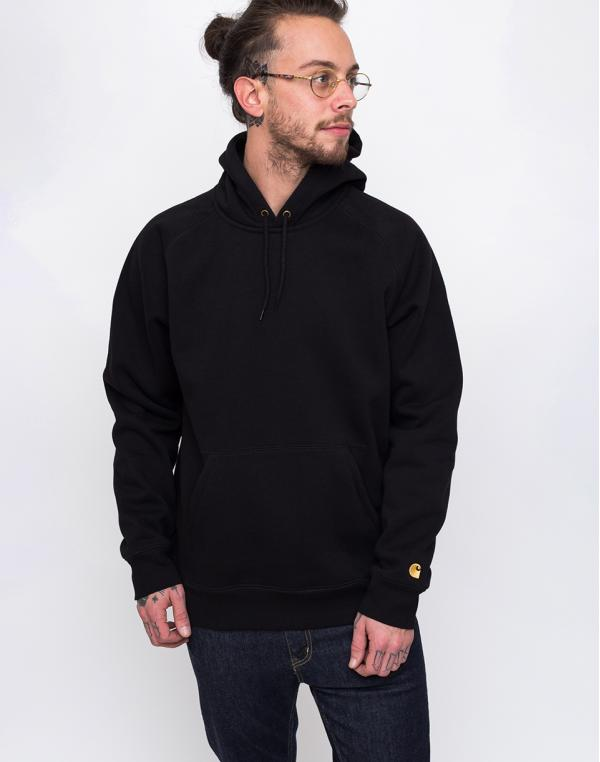Carhartt WIP Hooded Chase Sweat Black / Gold XS
