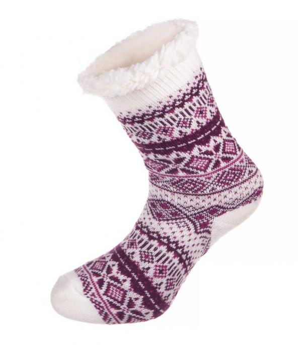ALPINE PRO SINNIR 2 RŮŽOVÁ / FIALOVÁ Unisex Ponožky L
