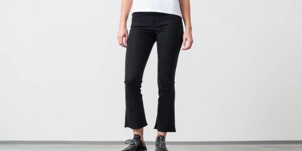 SELECTED Lana High Waist Bootcut Jeans Black Denim
